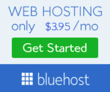 Bluehost webiste hosting only $3.95 a month